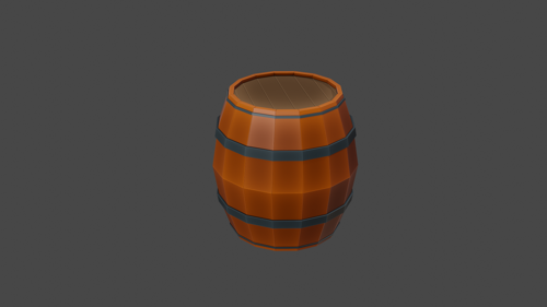 Low poly barrel preview image
