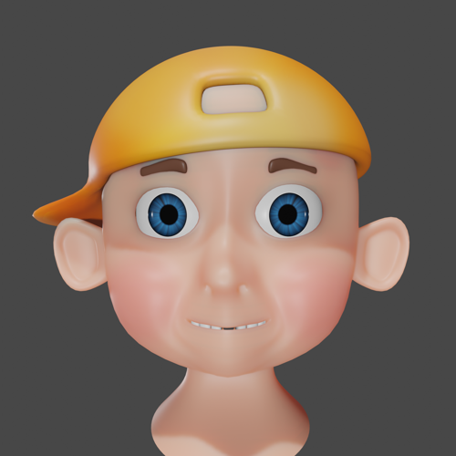 My First Boy Head Modeling - SSS - EEVEE preview image