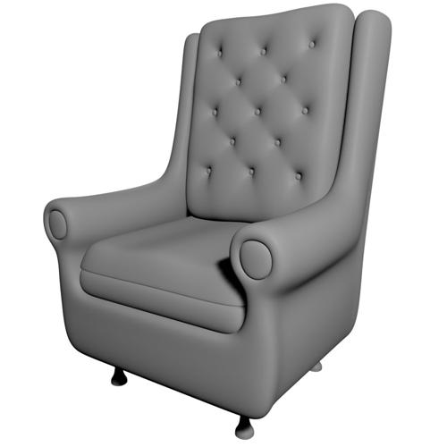 Button Tufted Arm Chair preview image