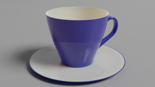 Coffee cup and saucer preview image