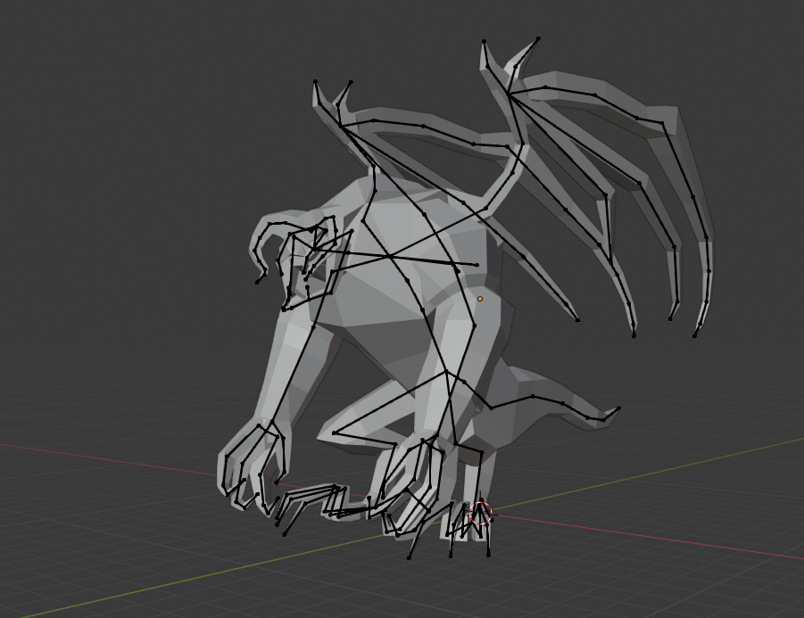 Balrog low poly with armature preview image 2