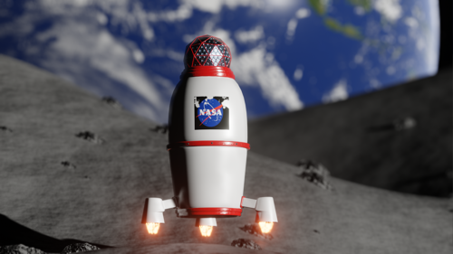 landing on the moon logo reveal preview image