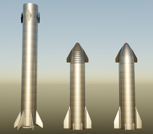 Space X Starship and Super Heavy (crew + cargo) preview image