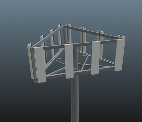 Low Poly Cell Phone Tower preview image