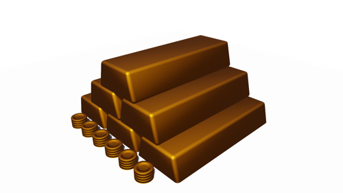 gold bars and coins preview image