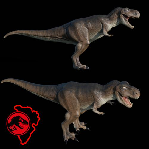 Tyrannosaurus rex from jurassic park preview image