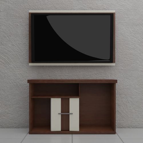 Realistic TV Stand in Blender preview image