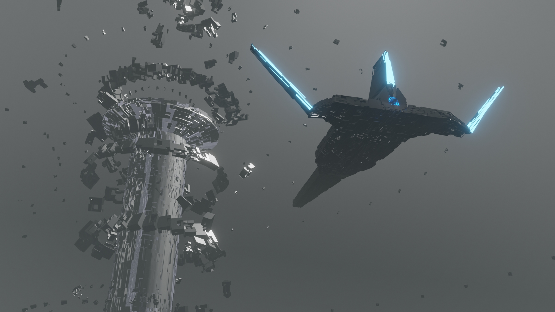 Modifier spaceship LOW POLY preview image 2