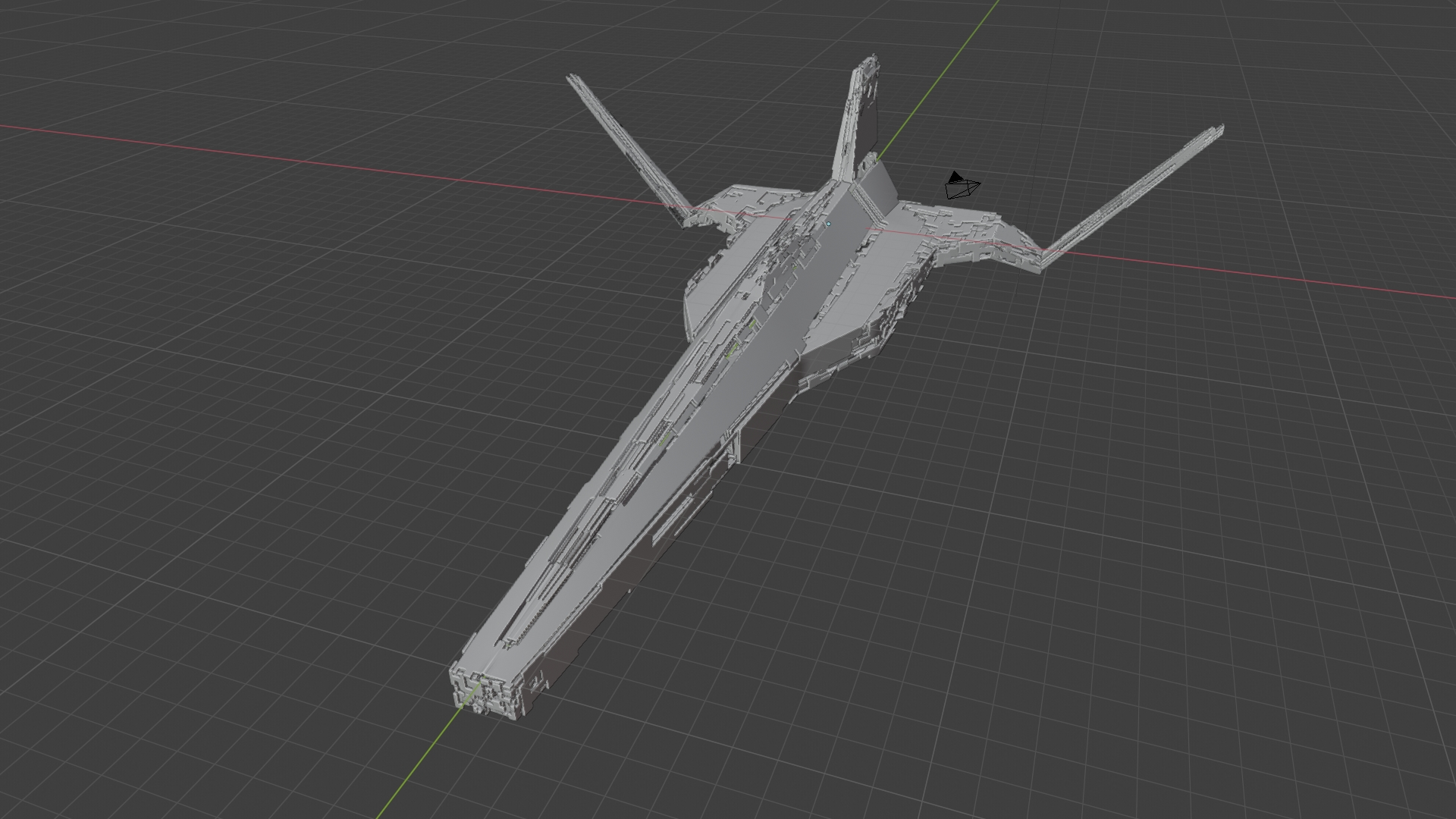 Modifier spaceship LOW POLY preview image 3